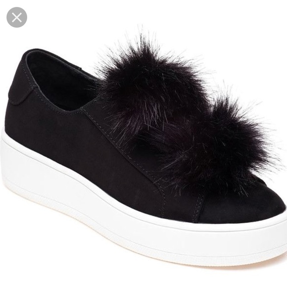dd9a417234a NWOT Steve Madden Bryanne Black Pom Pom Sneaker.  M 5b6c78eacdc7f76471b19596. Other Shoes ...
